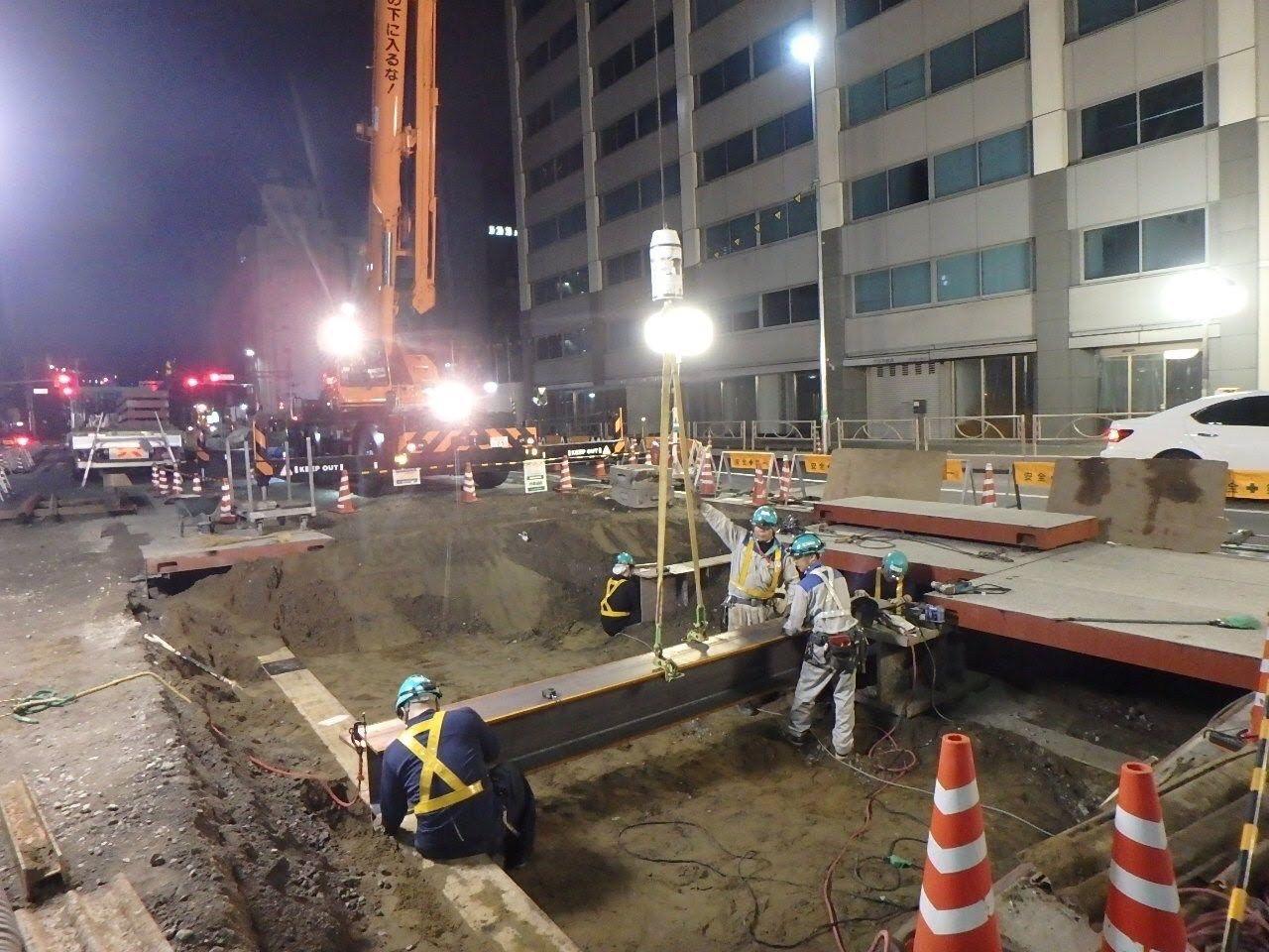 開削工法トンネル準備工事